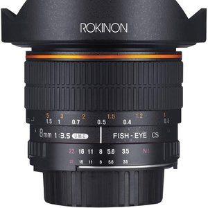 Rokinon Canon HD8M-C 8mm f/3.5 HD Fisheye Lens